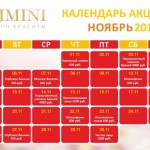Календарь Акций на Ноябрь 2018 г.